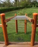 Climbing frame ladder