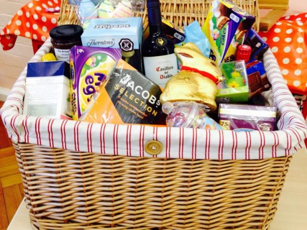 A hamper full of treats from our very own Easter bunnies