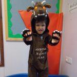 Dressed up as a Gruffalo