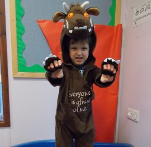 Dressed up as a Gruffalo