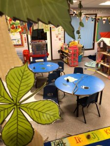 Early Years class decorated for a 'rumpus'