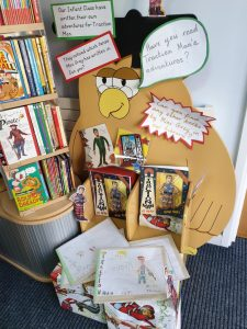 Display of Traction Man books