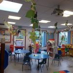 Leaves hanging down in early years class