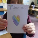 Back to school - thank you card