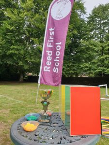 Sports Day Banner and Cup