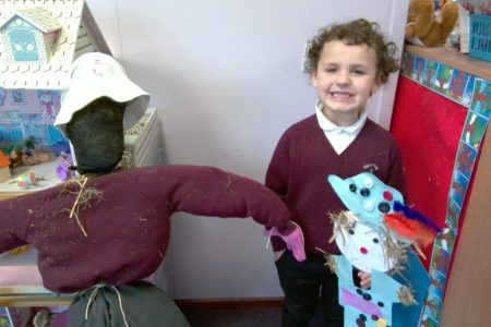 Early Years sharing learning, scarecrow