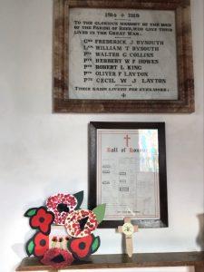 War memorial in church