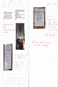 Childrens work on their investigations