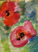 Painting of a poppy