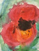 Close up painting of a poppy