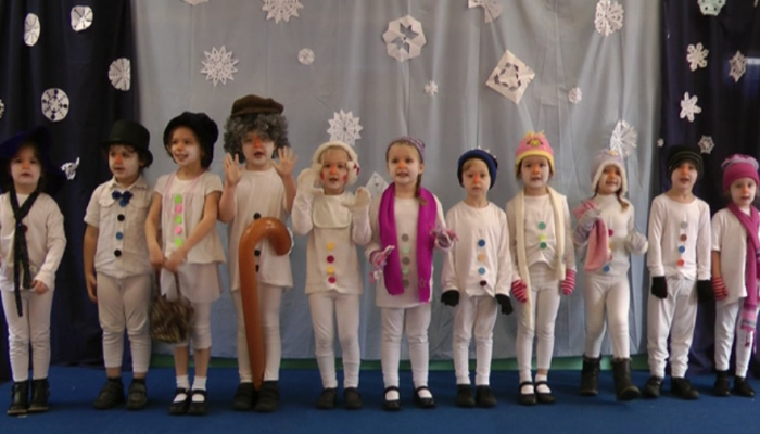 Winter production early years class