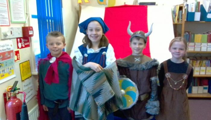 Dressed as Vikings