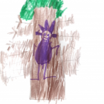 drawing of climbing a tree
