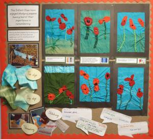 Display of poppy art