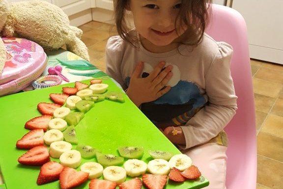 creating a fruit rainbow
