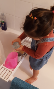 creating a potion in bath