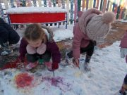 painting the snow