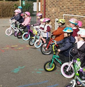Whole Early Years Class Cycling