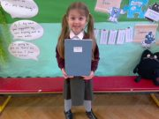 Infant pupil with her Monster story