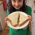 presenting sandwich