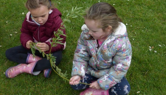 Pupils enjoying Forest School