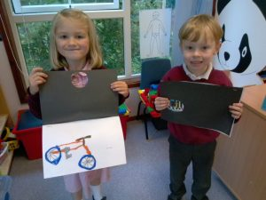 early years pupils sharing their learning