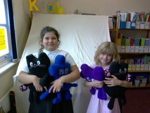 Junior pupils receiving Jigsaw awards