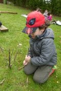 early years pupils enjoying forest school