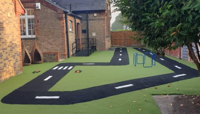 our brand new play surface