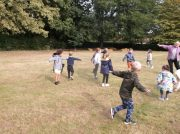 Infants enjoying Forest School
