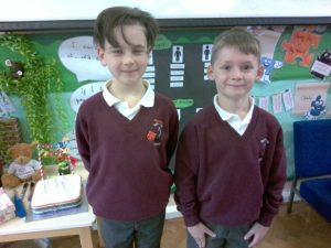 Junior pupils receiving jigsaw award